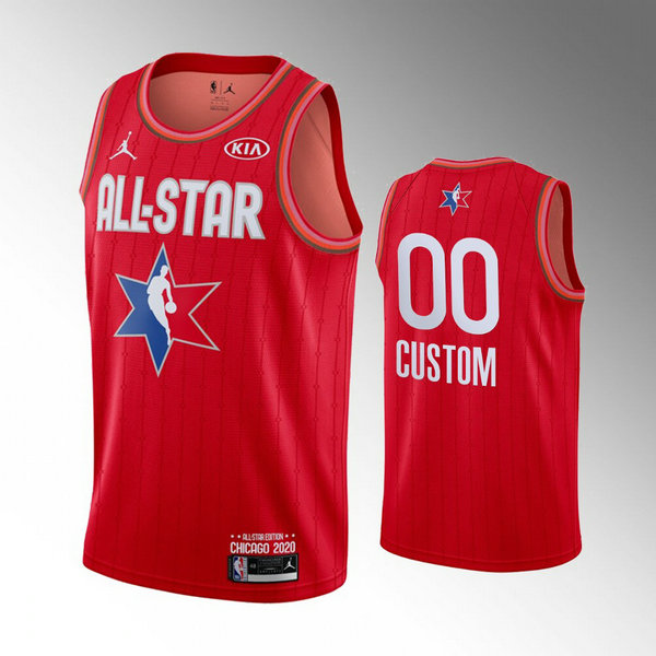 Maillot All Star 2020 Custom 0 Homme Rouge