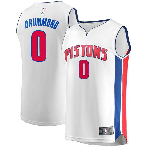 Maillot Detroit Pistons Association Edition Andre Drummond 0 Homme Blanc