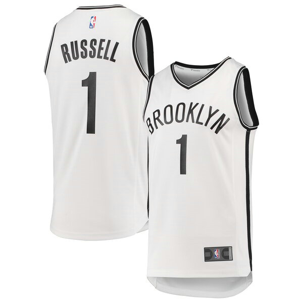 Maillot Brooklyn Nets 2019 D'Angelo Russell 1 Homme Blanc
