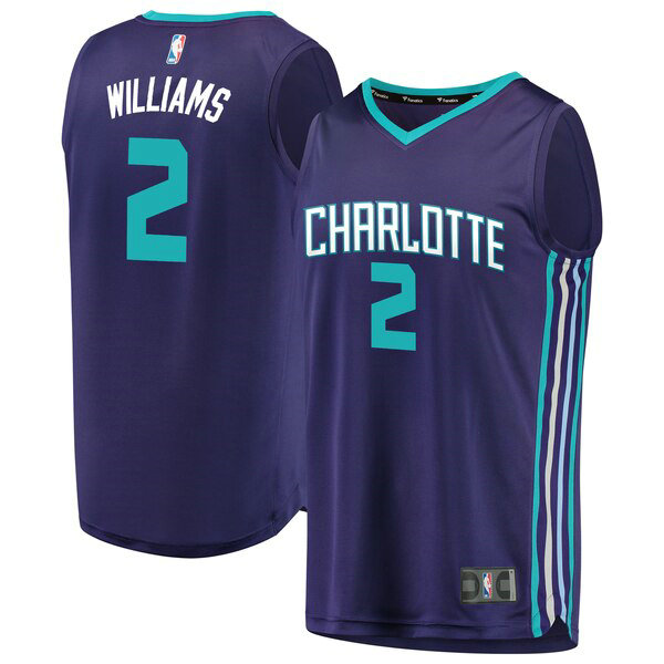 Maillot Charlotte Hornets 2019 Marvin Williams 2 Homme Pourpre