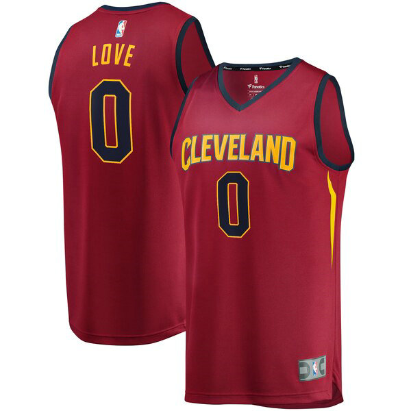 Maillot Cleveland Cavaliers 2019 Kevin Love 0 Homme Rouge
