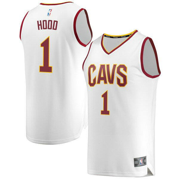 Maillot Cleveland Cavaliers 2019 Rodney Hood 1 Homme Blanc