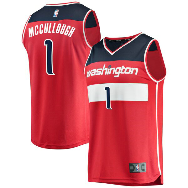 Maillot Washington Wizards Icon Edition Chris McCullough 1 Homme Rouge