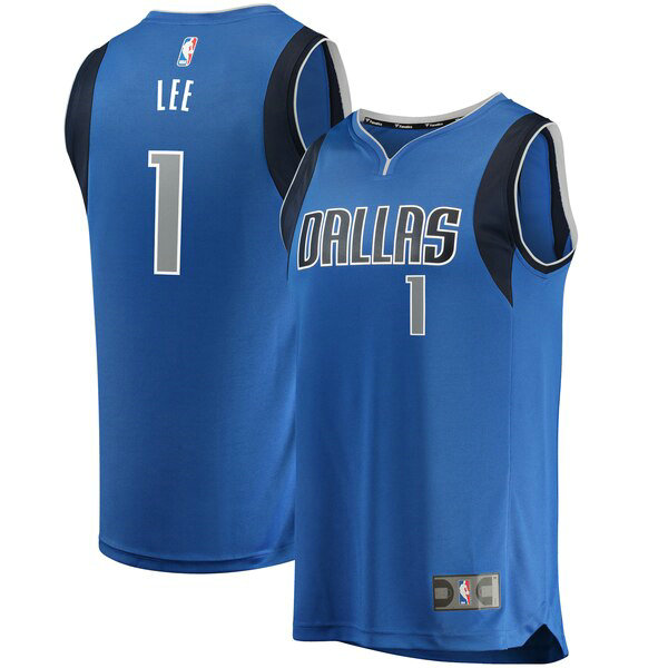 Maillot Dallas Mavericks Icon Edition Courtney Lee 1 Homme Bleu