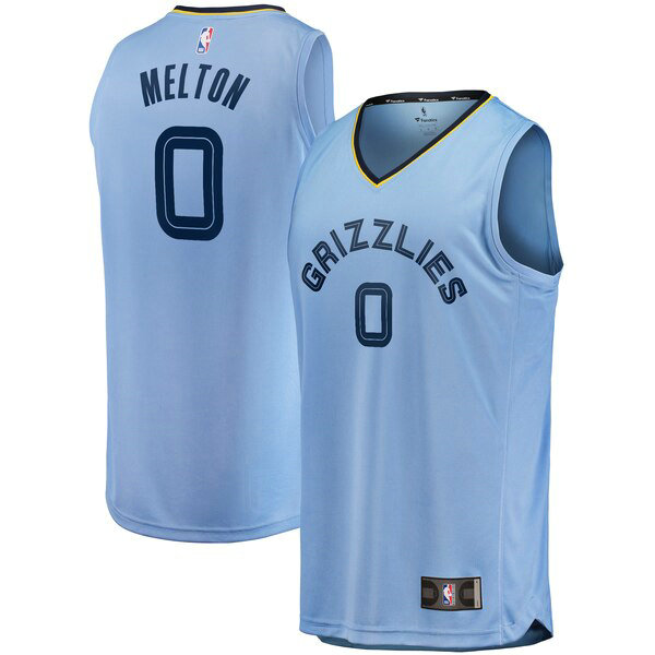 Maillot Memphis Grizzlies Statement Edition De'Anthony Melton 0 Homme Bleu