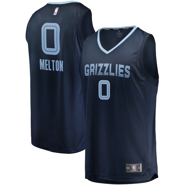 Maillot Memphis Grizzlies Icon Edition De'Anthony Melton 0 Homme Bleu marin