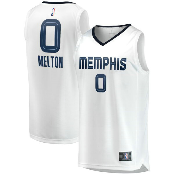 Maillot Memphis Grizzlies Association Edition De'Anthony Melton 0 Homme Blanc