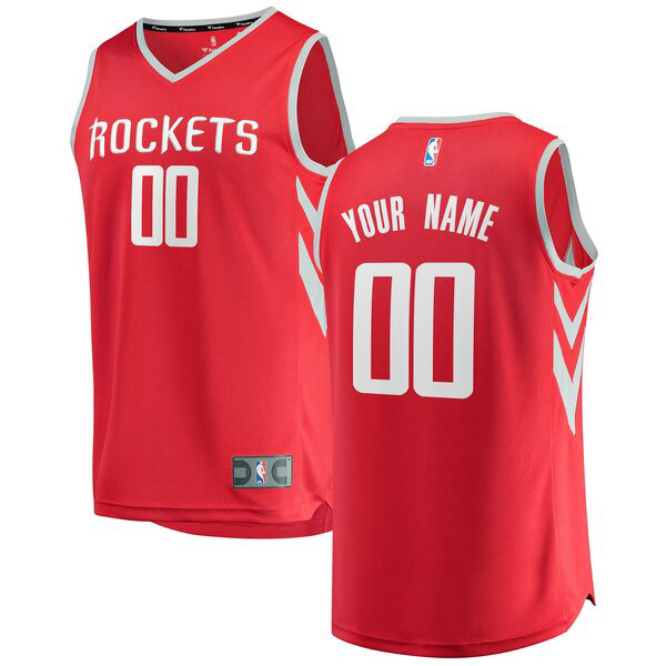 Maillot Houston Rockets Icon Edition Custom 0 Homme Rouge