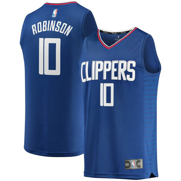 Maillot Los Angeles Clippers Icon Edition Jerome Robinson 0 Homme Bleu