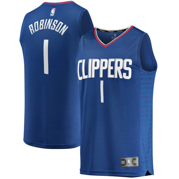 Maillot Los Angeles Clippers Icon Edition Jerome Robinson 1 Homme Bleu