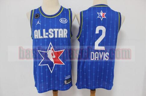 Maillot All Star 2020 Anthony Davis 2 Homme Bleu