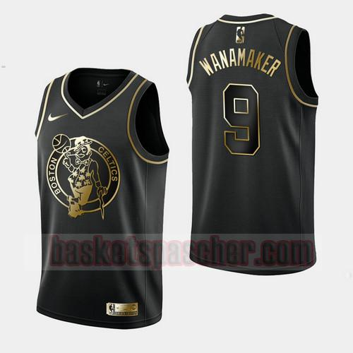 Maillot Boston Celtics Golden Edition Bradley Wanamaker 9 Homme Noir