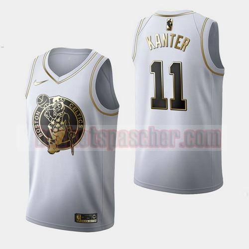 Maillot Boston Celtics Golden Edition Enes Kanter 11 Homme Blanc