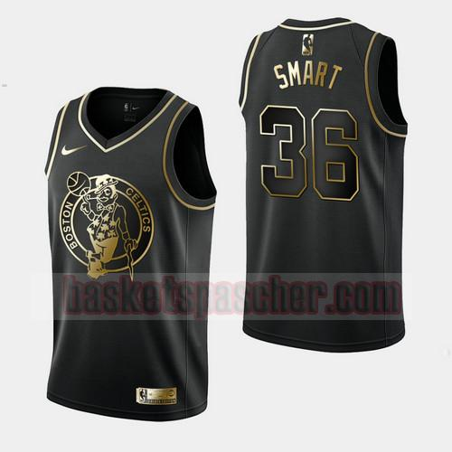 Maillot Boston Celtics Golden Edition Marcus Smart 36 Homme Noir
