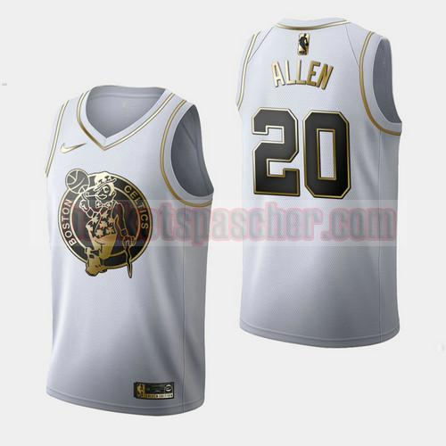 Maillot Boston Celtics Golden Edition Ray Allen 20 Homme Blanc