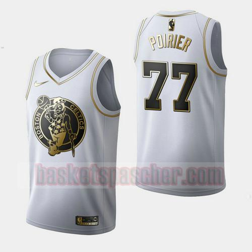Maillot Boston Celtics Golden Edition Vincent Poirier 77 Homme Blanc