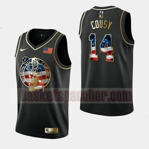 Maillot Boston Celtics Independence Day Golden Edition Bob Cousy 14 Homme Noir