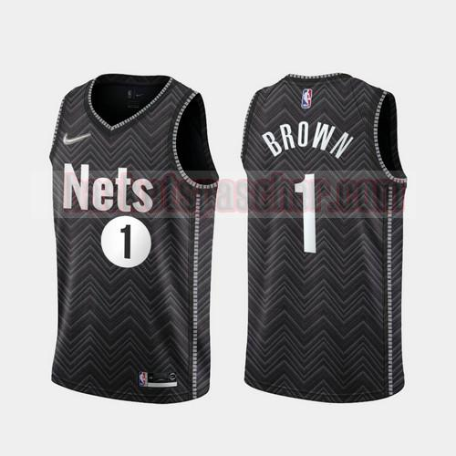 Maillot Brooklyn Nets 2020-21 Earned Edition Bruce Brown 1 Homme Noir