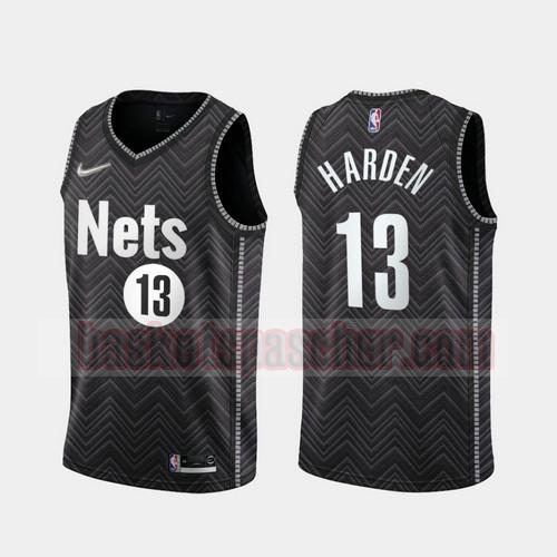 Maillot Brooklyn Nets 2020-21 Earned Edition James Harden 13 Homme Noir
