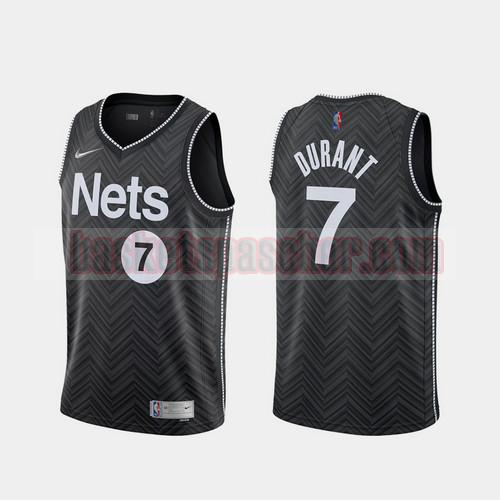 Maillot Brooklyn Nets 2020-21 Earned Edition Kevin Durant 7 Homme Noir
