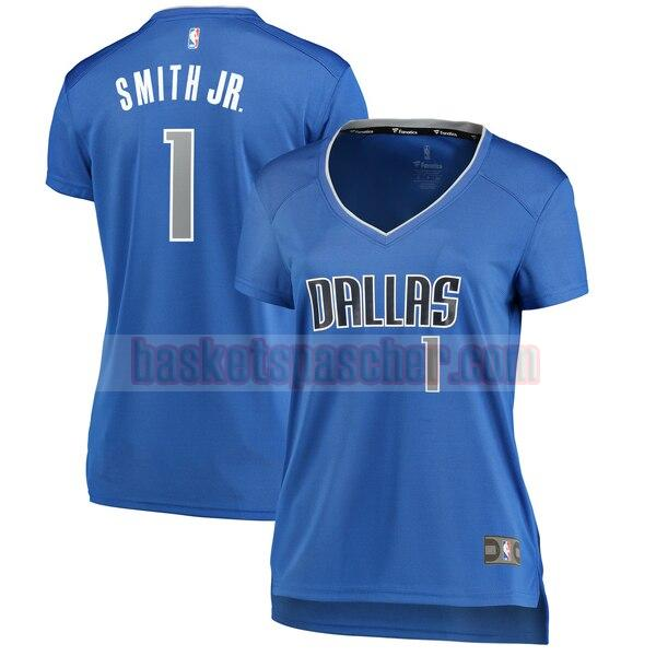 Maillot Dallas Mavericks Réplique Dennis Smith 1 Femme Bleu