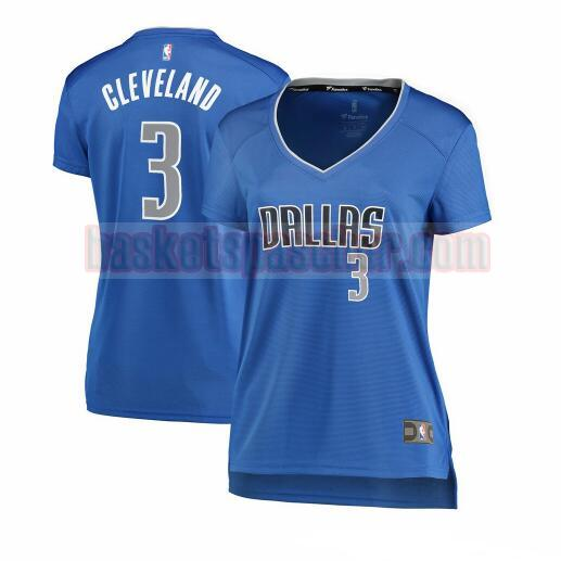 Maillot Dallas Mavericks icon edition Antonius Cleveland 3 Femme Bleu