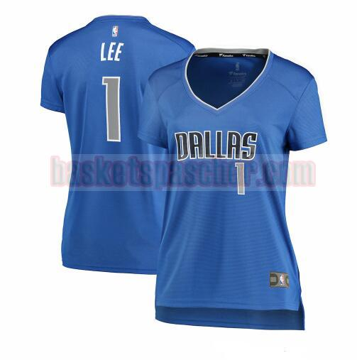 Maillot Dallas Mavericks icon edition Courtney Lee Dallas 1 Femme Bleu