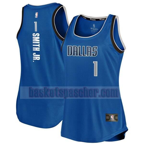 Maillot Dallas Mavericks icon edition Dennis Smith Jr 1 Femme Bleu