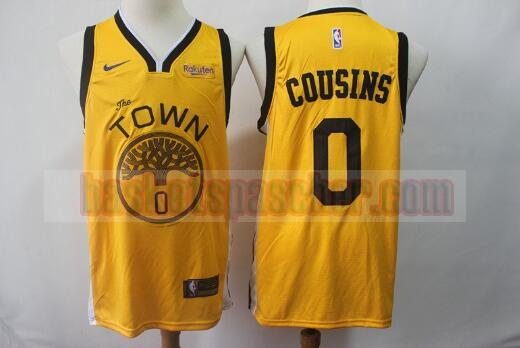 Maillot Golden State Warriors Basketball DeMarcus Cousins 0 Homme Jaune