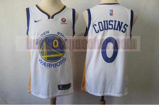 Maillot Golden State Warriors DeMarcus Cousins 0 Homme Blanc