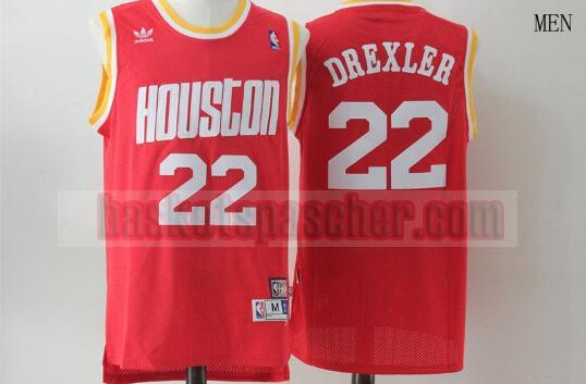 Maillot Houston Rockets Basketball Clyde Drexler 22 Homme Rouge