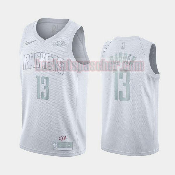 Maillot Houston Rockets MVP James Harden 13 Homme blanc