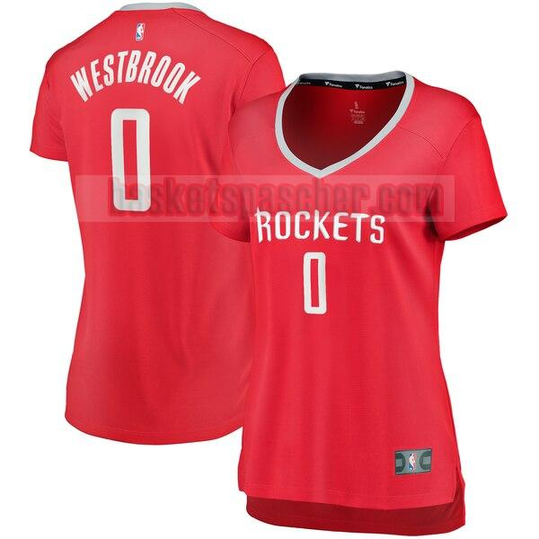 Maillot Houston Rockets icon edition Russell Westbrook 0 Femme Rouge