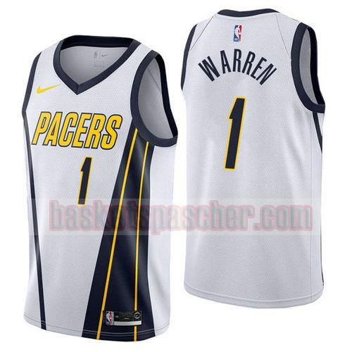 Maillot Indiana Pacers Earned 2019 T.J. Warren 1 Homme White
