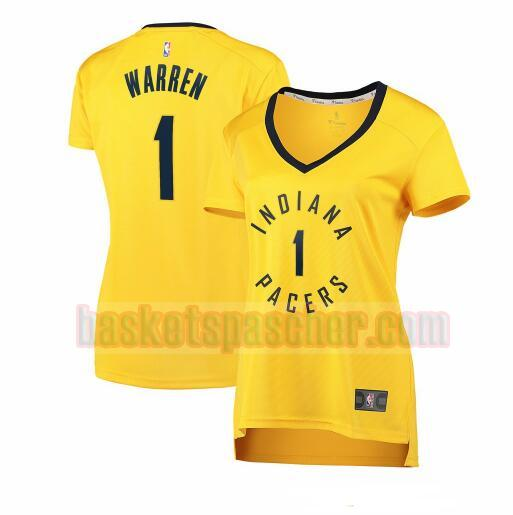 Maillot Indiana Pacers statement edition TJ Warren 1 Femme Jaune
