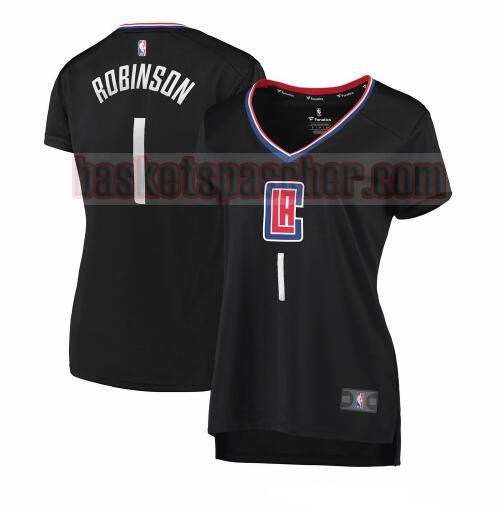 Maillot Los Angeles Clippers statement edition Jerome Robinson 1 Femme Noir