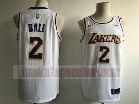 Maillot Los Angeles Lakers Lonzo Ball 2 Homme Blanc