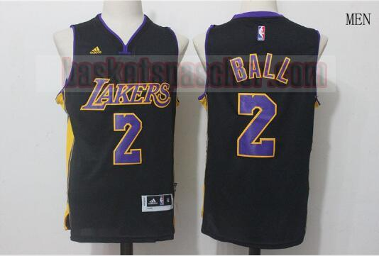 Maillot Los Angeles Lakers Lonzo Ball 2 Homme Noir