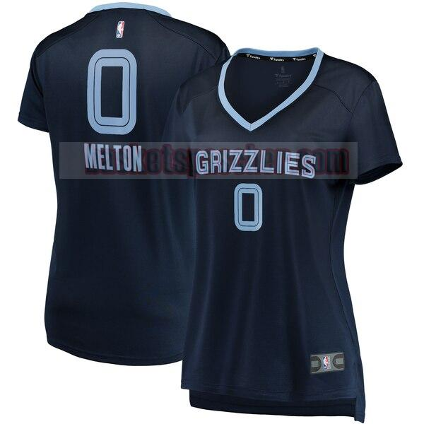 Maillot Memphis Grizzlies icon edition De'Anthony Melton 0 Femme Bleu marin