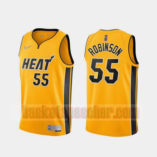 Maillot Miami Heat 2020-21 Earned Edition Duncan Robinson 55 Homme Jaune