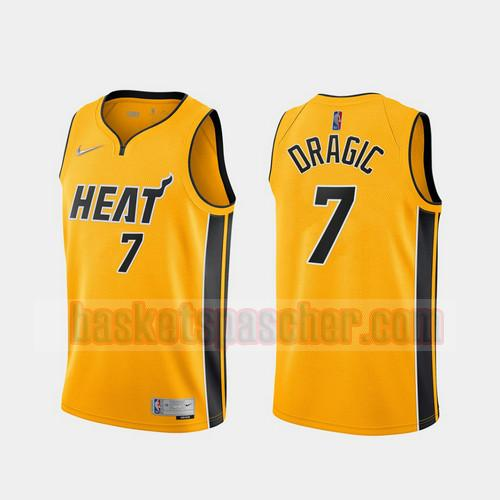 Maillot Miami Heat 2020-21 Earned Edition Goran Dragic 7 Homme Jaune
