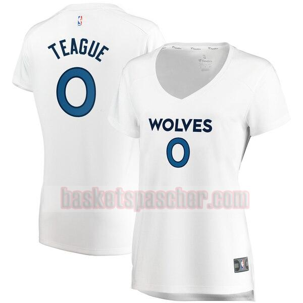 Maillot Minnesota Timberwolves association edition Jeff Teague 0 Femme Blanc