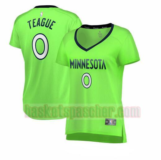 Maillot Minnesota Timberwolves statement edition Jeff Teague 0 Femme Vert