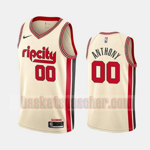 Maillot Portland Trail Blazers 2019-20 City Rip Cream Carmelo Anthony 0 Homme Blanc
