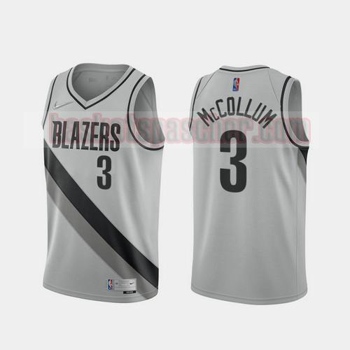 Maillot Portland Trail Blazers 2020-21 Earned Edition C.J. Mccollum 3 Homme gris