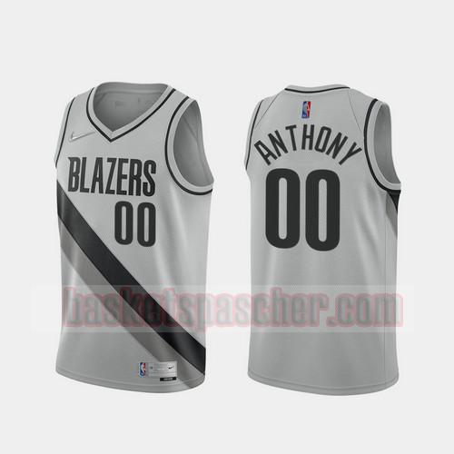 Maillot Portland Trail Blazers 2020-21 Earned Edition Carmelo Anthony 0 Homme gris
