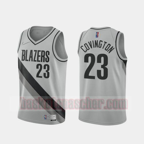 Maillot Portland Trail Blazers 2020-21 Earned Edition Robert Covington 23 Homme gris