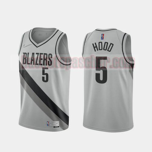 Maillot Portland Trail Blazers 2020-21 Earned Edition Rodney Hood 5 Homme gris