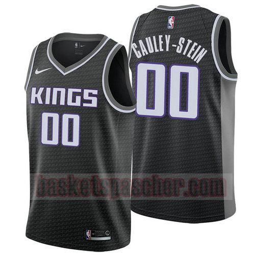 Maillot Sacramento Kings Déclaration 2018 Willie Cauley 0 Homme Noir