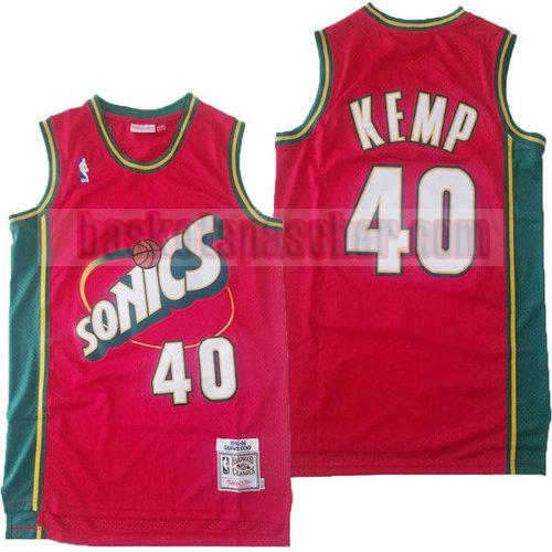 Maillot Seattle Supersonics clásico 2018-19 Shawn Kemp 40 Homme Rouge